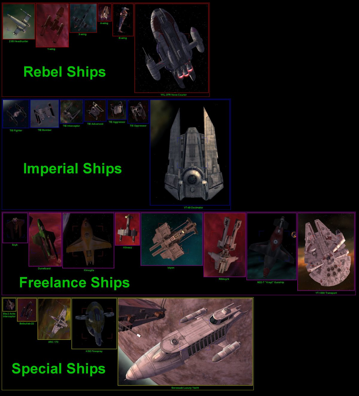 Galaxy Quest Ship: Complete Ship Stats And Pictures