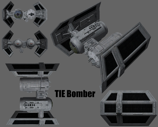 Star Wars Galaxies Ships Tie Bomber